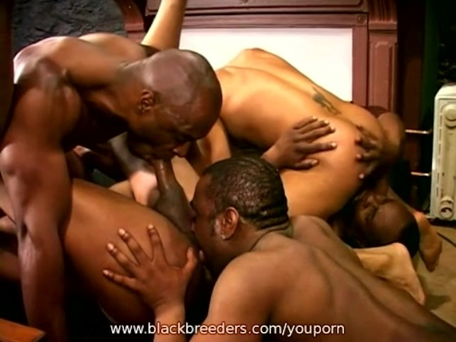 Group ebony sex