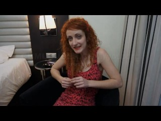 She sucks a cock before getting fucked hard