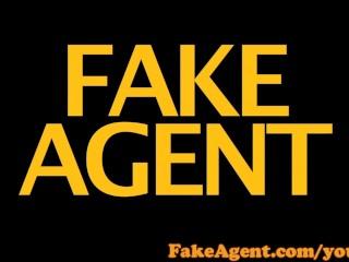 FakeAgent Red head amateur gets creampie