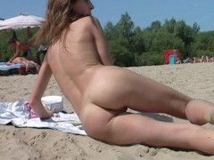 It just got hotter at the nude beach thanks to her