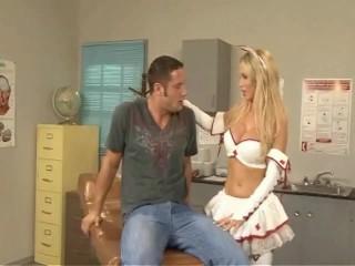 Nikki Benz gigantic blonde tits glazed exlusively at DCup