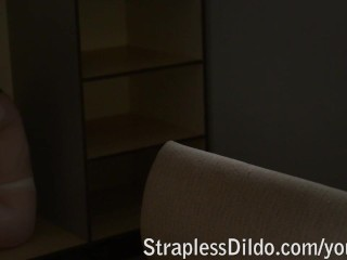 Mistress allows her sex doll to leave her place only for strapon sex