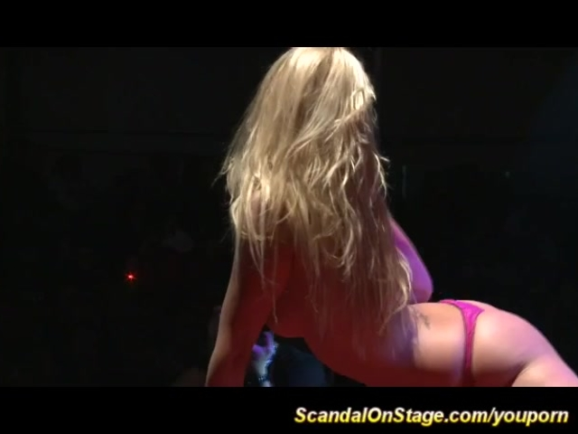 Have removed blonde stripper on stage