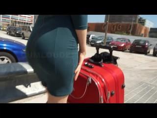 Brazilian redhead teen with super cute small ass
