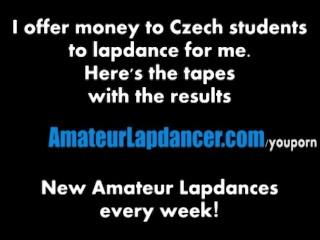 Czech hottie lapdances in hot pants