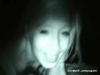 Sexting night vision video of ex girlfriend giving blowjob
