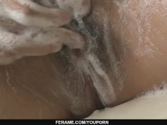 Picture Hot milf Manami Komukai gobbles cock in the...