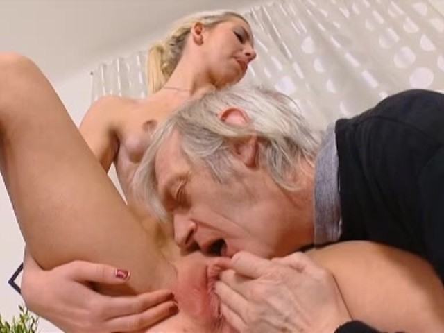 Old Man Young Girl Handjob