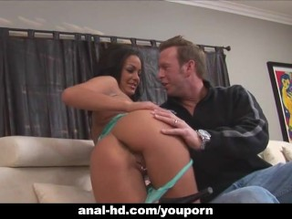 Horny MILF with huge tits gets hot salty facial