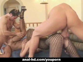The Swinger Experience Presents Two couples in anal foursome