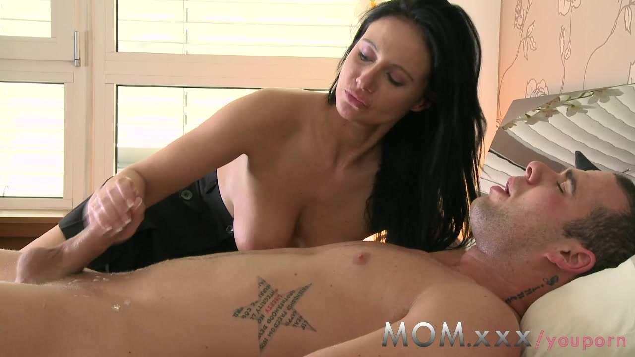 Lonely milf cures depression with sex