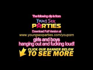 Young Sex Parties - Teen chicks sharing stiff dicks