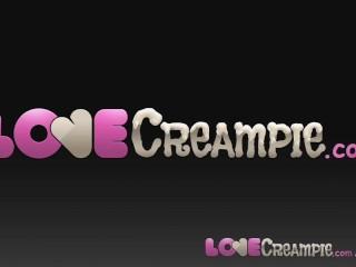 Love Creampie Beautiful blonde didn't say he could cum inside her