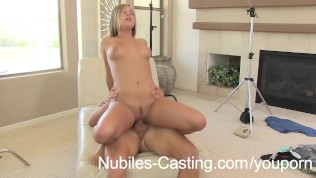 Nubiles Casting - She thinks a messy facial will help her get the job!