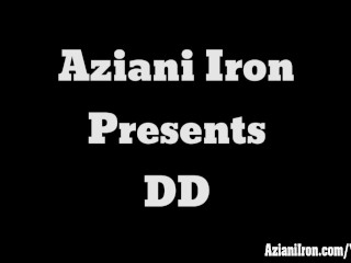 Aziani Iron mature bodybuilder DD working out then get naked and spreads