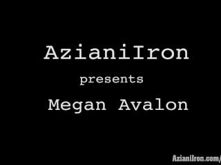 Aziani Iron Megan Avalon fitness Model gets naked