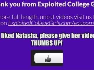 Natasha Exploited College Girls - FULL VID