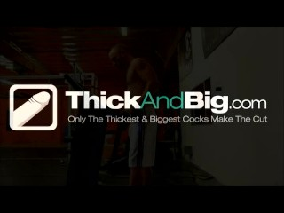 Thick & Big - Twink works out his hole with a big cock