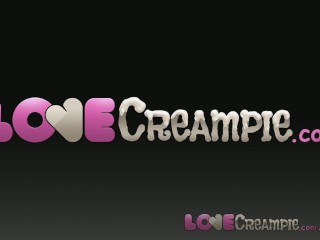 Love Creampie Hot redhead filled up with cum wet messy sweaty passionate sex scene