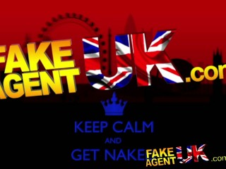 FakeAgentUK Creampie casting for a london girl with great tits