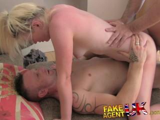 FakeAgentUK Agents dick makes partner jealous in sex orgy casting