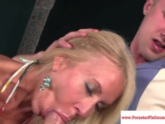 Picture Erica Lauren gets mouthful of cum