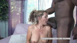 Blonde MILF Kelly Leigh rides a stiff black cock