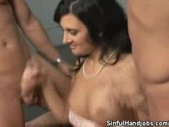 Picture Ava Ramon Juggles Two Cocks With Her Hands