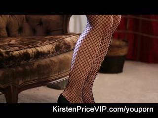 Black stockings naughty girl fun with Kirsten Price