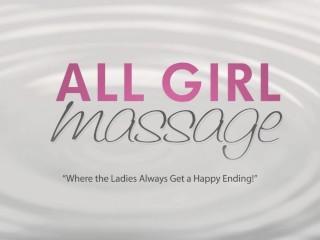 All Girl Massage brunettes on blonde Lesbian Threesome