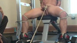 Jock Bound And Edged At Gym