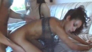 Amateur homemade hardcore anal threesome