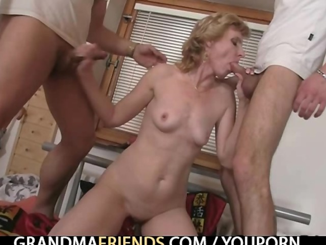 Amateur Sucking Two Cocks Once