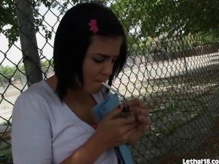 Cute Teen Swallows Cum From A Big Black Dick