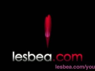 Lesbea Deep penetration makes busty mature lesbian woman in stockings wet