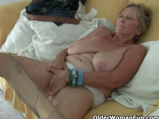 Colossal titted grandma Isabel collection