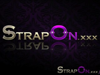 StrapOn Gina Devine and Holly share a vibrating strapon dildo
