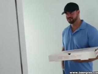 TeenPies Pizza Guy fills redhead Natalie Lust's pie with jizz
