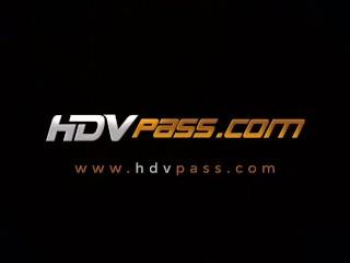 HDVPass Tight blonde Ella Milano deepthroats and rides huge cock