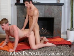 Picture ManRoyale Boyfriends have hot sex by firepla...