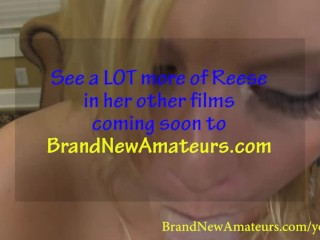 BrandNewAmateurs Blonde Southern Belle Reese Swallows Load #2 during Porn Audition