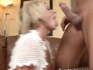 Brooke Belle Fucked And Jizzed On the Couch