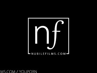 Nubile Films - Licking jizz from her girlfriends fucked pussy