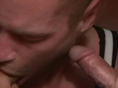 Picture Tattooed guy sucking 2 cocks - Factory Video