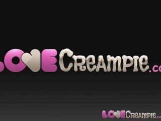 Love Creampie Female casting agent in stockings fucks amateur stud for job