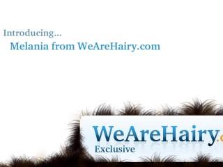 Sexy hairy babe Melania likes her hairy pussy