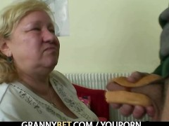 Picture Big titted granny tastes yummy cock