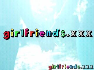 Girlfriends Hot brunette Gina Devine masturbates for Eufrats enjoyment