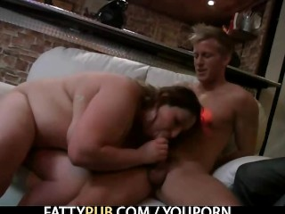 Plumper gets fucked and fisted
