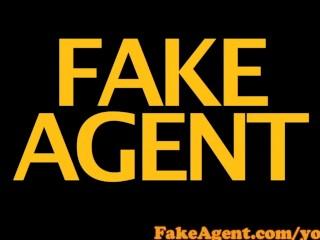 FakeAgent Shy brunette gets Spunk in her Eye in Casting